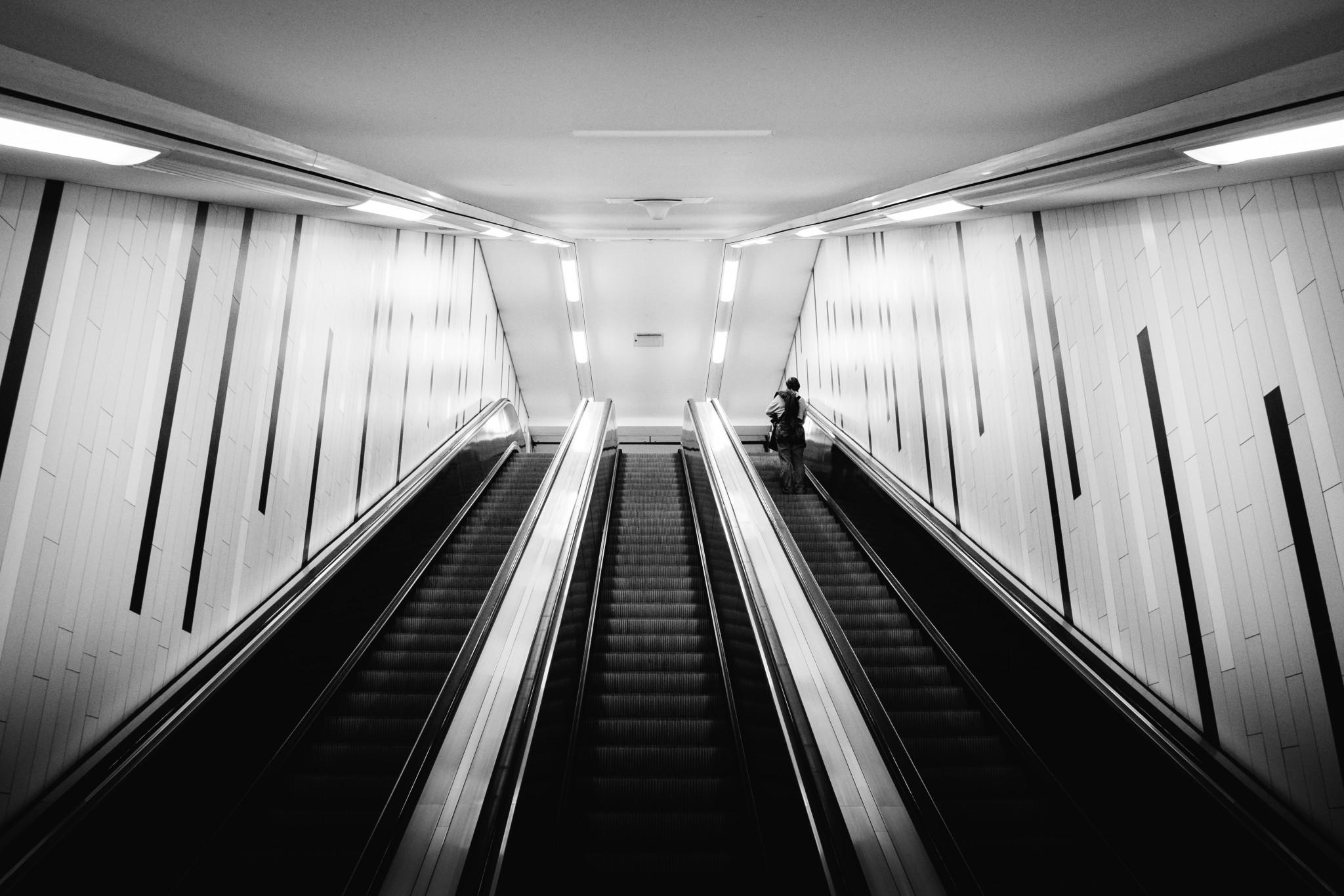 Rolltreppe in Hamburg