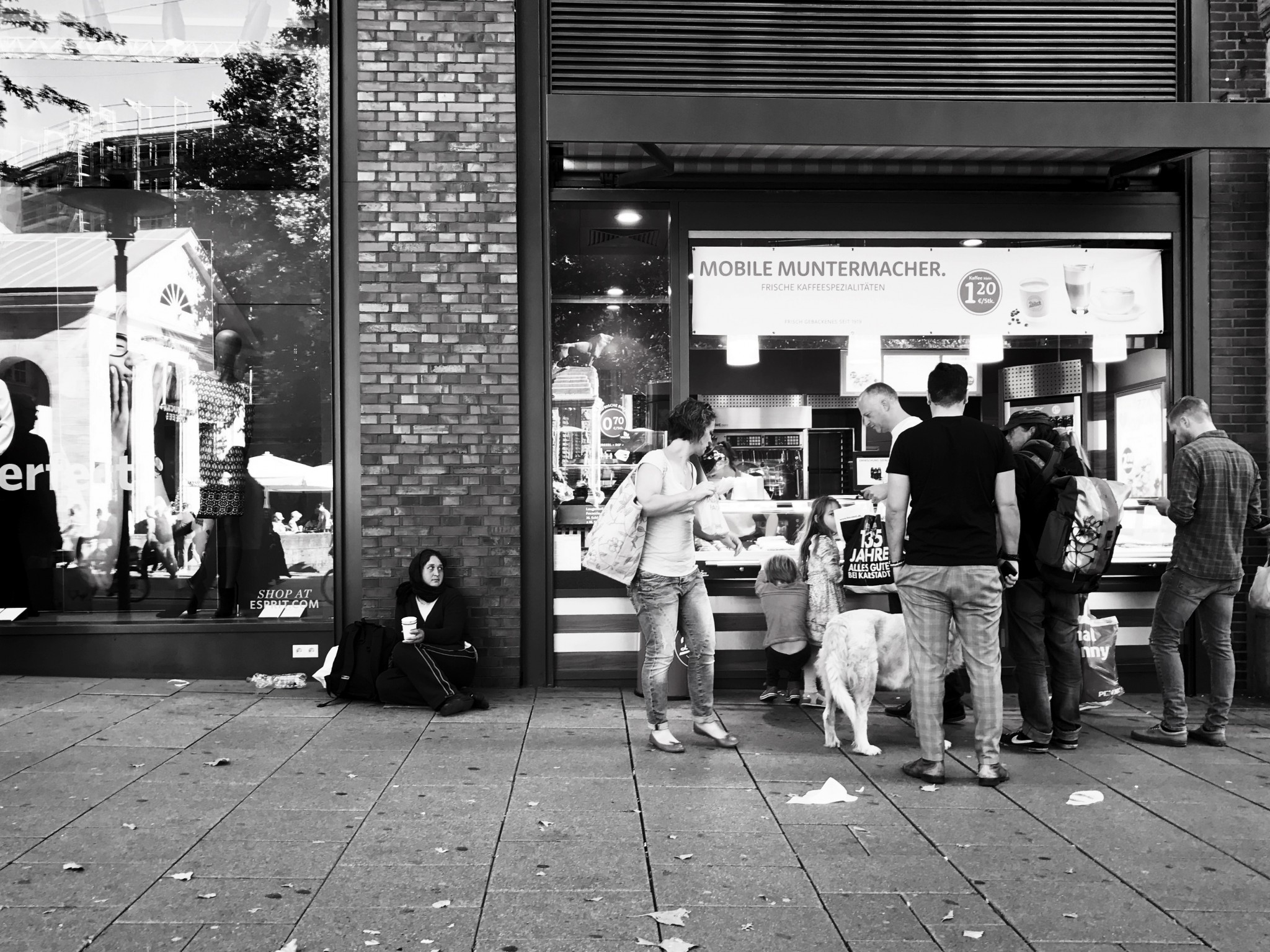 iphone7-Foto, Schwarz/Weiß, Streetphotography