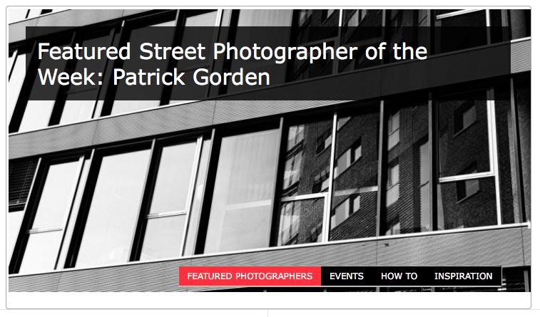 Auszeichnung: Street Photographer of the Week